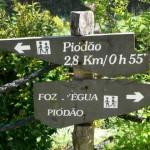 Percurso entre piódão e Fóz d'Égua caminhada